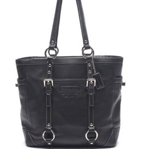 COACH Leather Bag Tote Black No. G0820-F11524